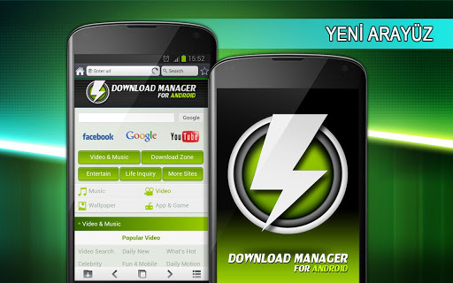 Download Manager for Android Arayuz